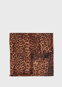 Leopard Print Lightweight Cashmere Scarf, thumbnail 1