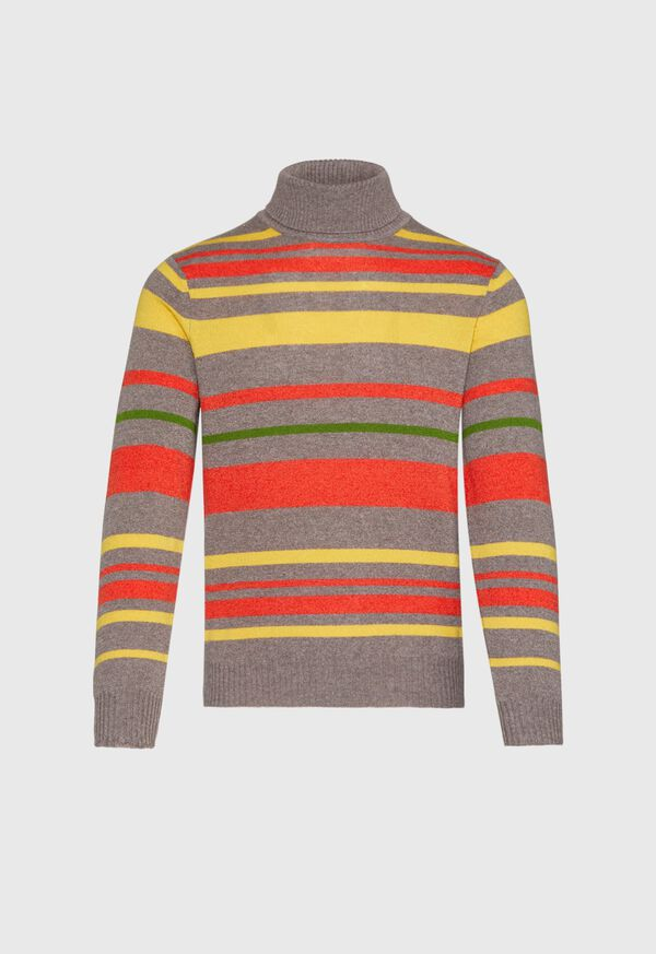 Cashmere Multi Color Stripe Turtleneck, image 1