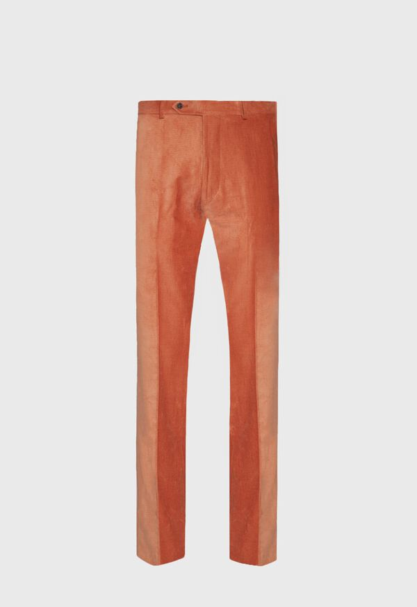 Orange Corduroy Dress Pant