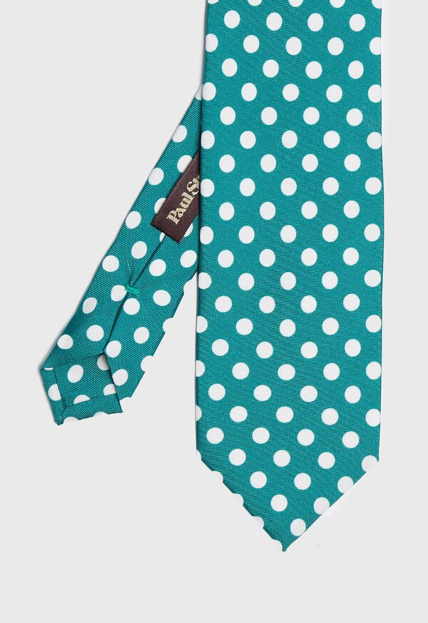 Large Dot Silk Tie, image 1