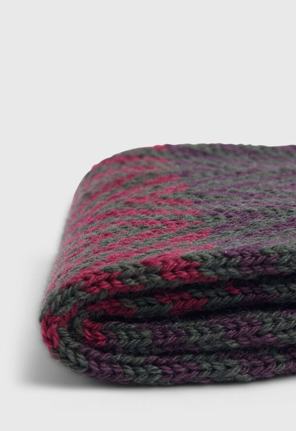 Wool Blend Chevron Stripe Sock, image 2