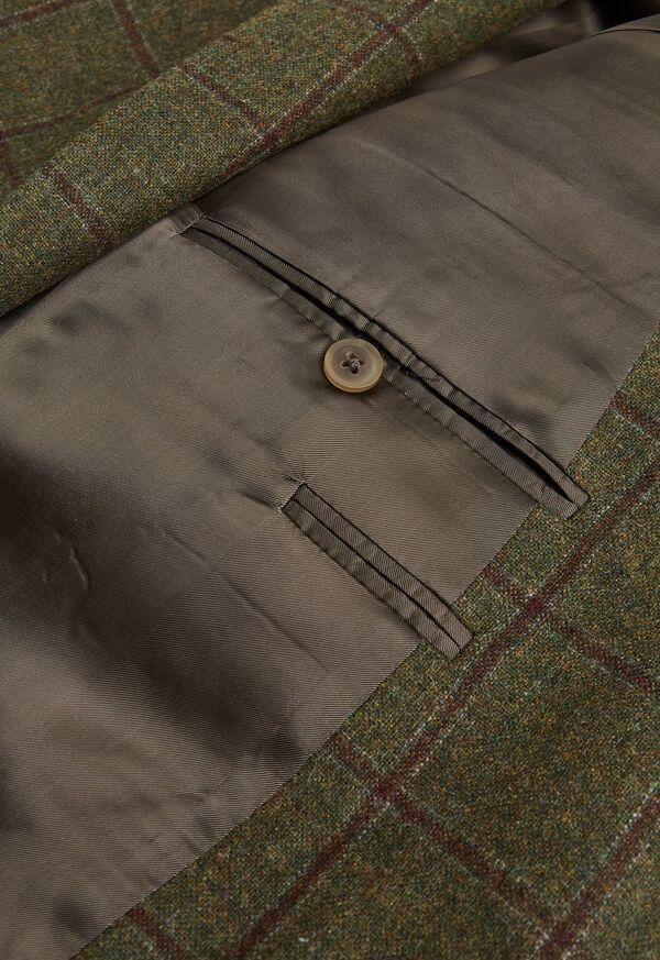 Green with Burgundy Windowpane Sport Jacket, image 3