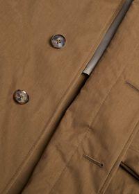 Tan A-Line Rain Coat, thumbnail 3