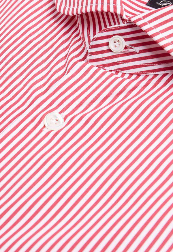 Stripe Round Collar Dress Shirt, image 2