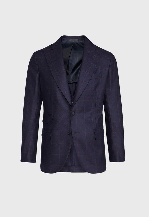 Navy and Rust Windowpane Suit, image 3