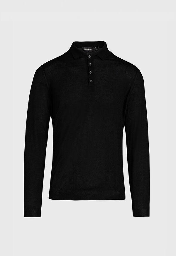 Long Sleeve Cashmere Polo, image 1