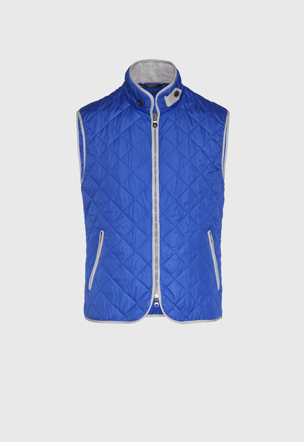 Nylon Vest With Piping