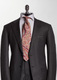 Silk Floral Paisley Tie, thumbnail 2
