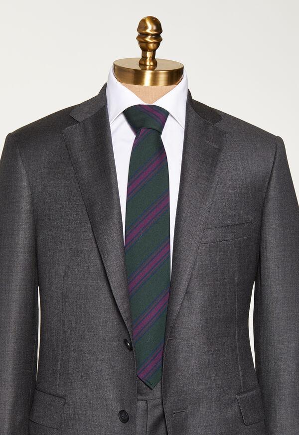 Wool Blend Stripe Tie, image 2