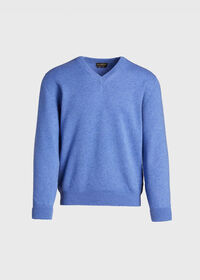 Scottish Cashmere V-Neck Sweater, thumbnail 4