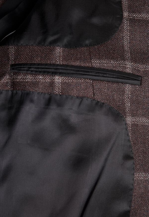 Wool Deco Windowpane Sport Jacket, image 3