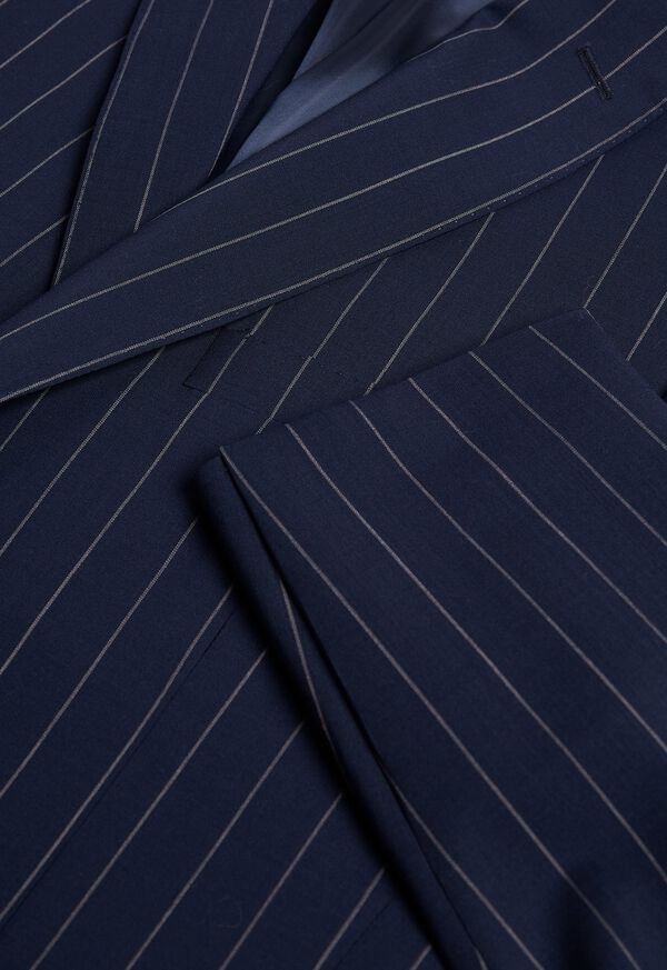 Navy and White Stripe Travel Suit, image 2