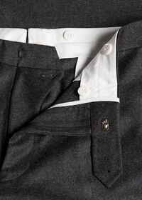 Wool and Cashmere Flannel Plain Front Trouser, thumbnail 2