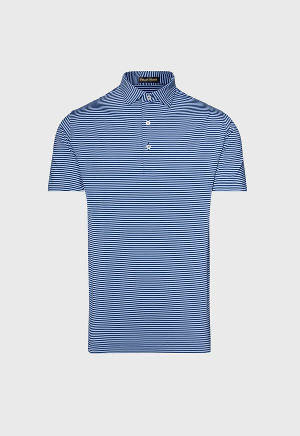 Two Color Stripe Performance Polo, image 1