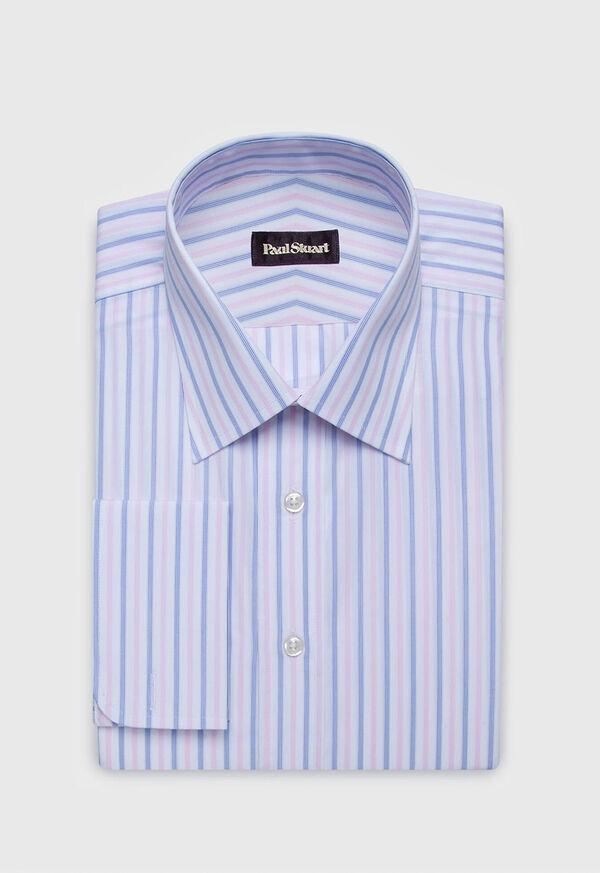 Striped Cotton Dress Shirt, image 1