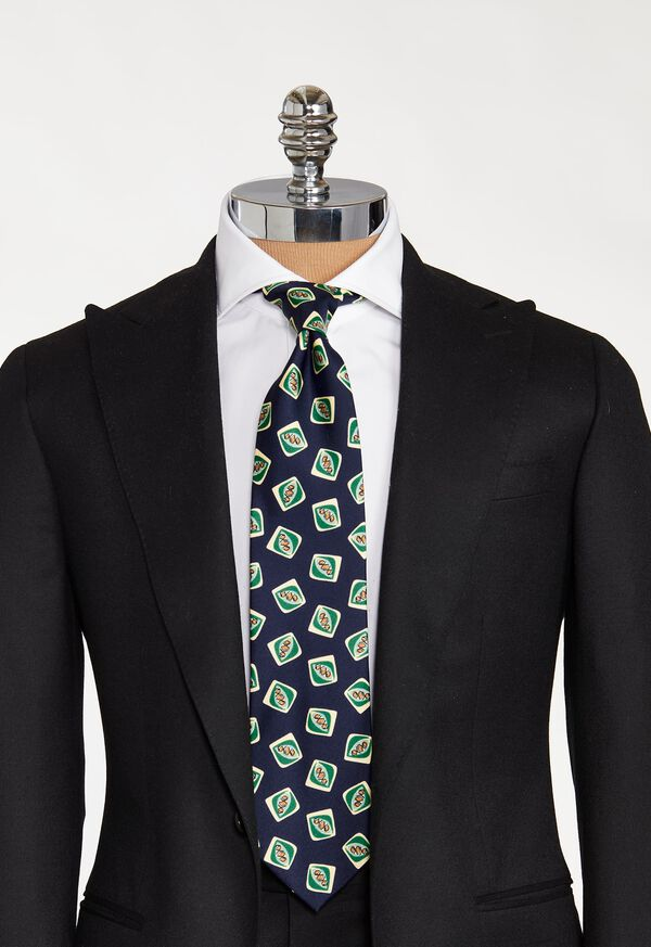 Deco Square Print Tie, image 2