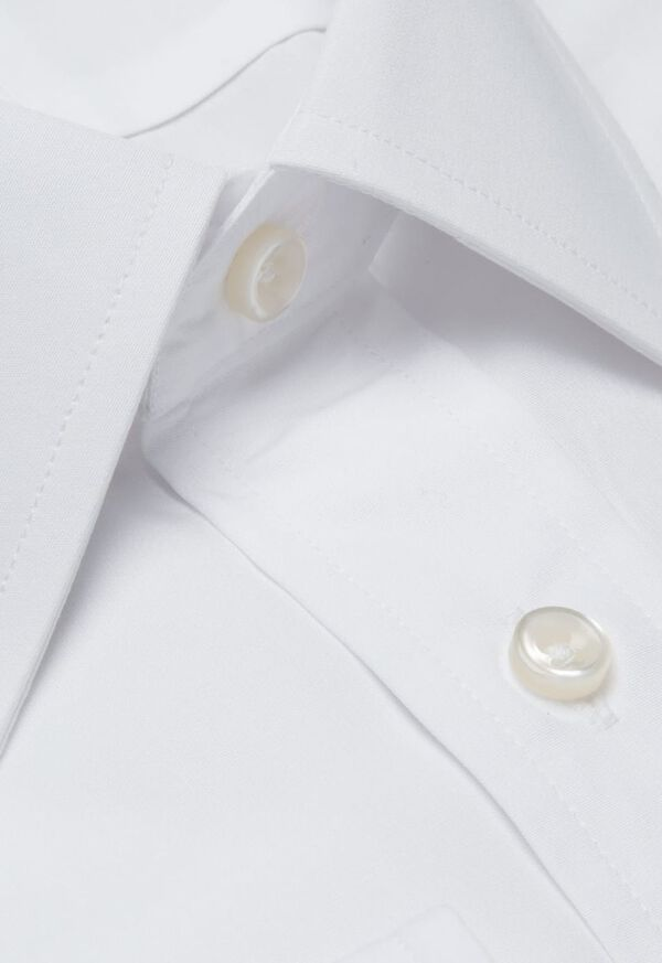White Broadcloth Cotton Dress Shirt, image 2