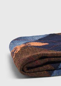 Deerhead Motif Argyle Wool Sock, thumbnail 2