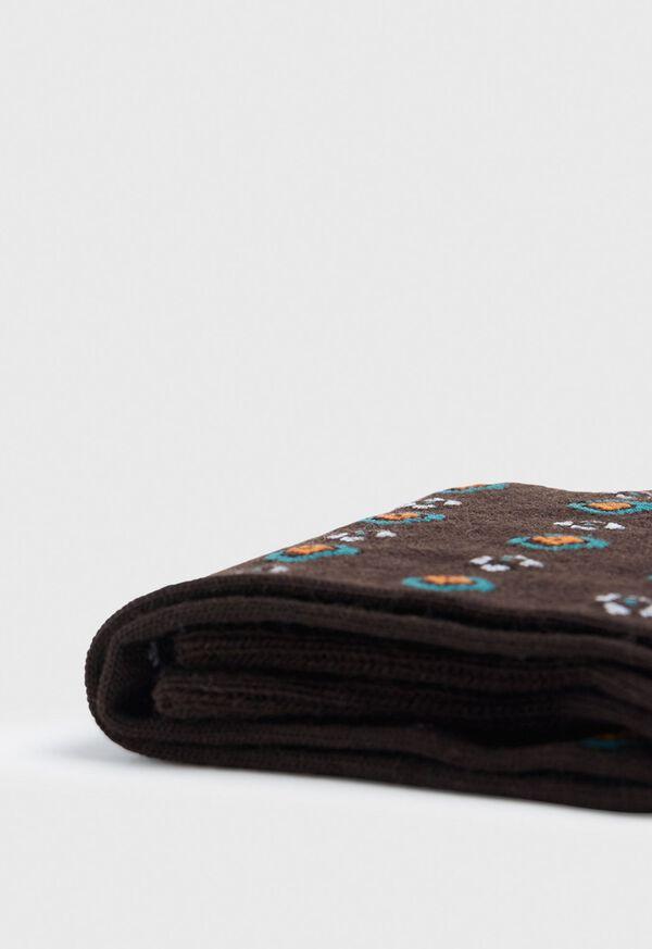 Wool Blend Tribal Motif Sock, image 2