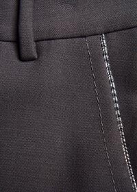 Wool Blend Trouser with Metallic Detail, thumbnail 2