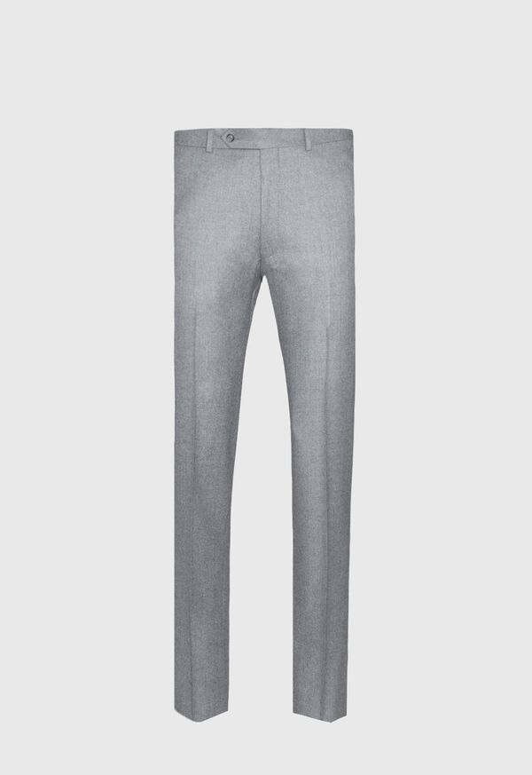 Grey Super 120s Flannel Pant, image 1