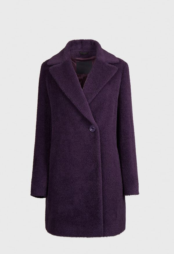 Wool and Alpaca Blend One Button Coat