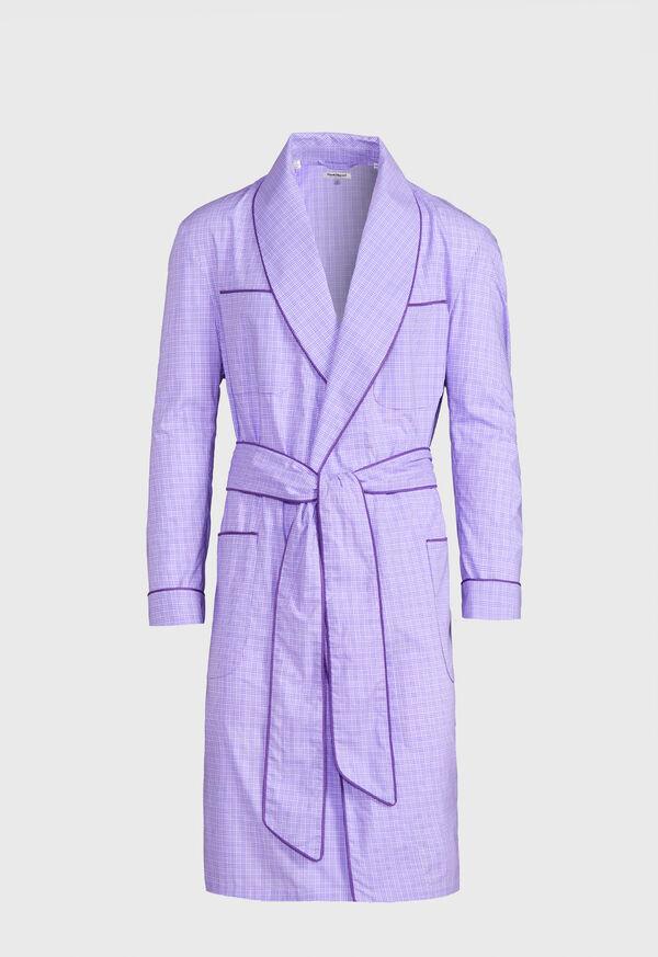 Plaid Cotton Robe, image 1