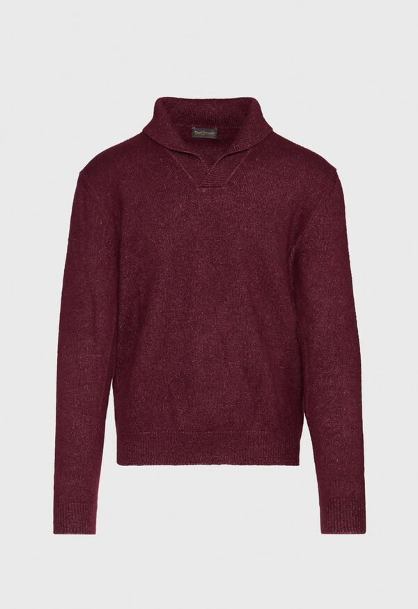 Cashmere Blend Shawl Collar Pullover Sweater, image 1