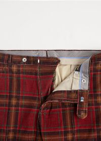 Burgundy Plaid Corduroy Pants, thumbnail 2