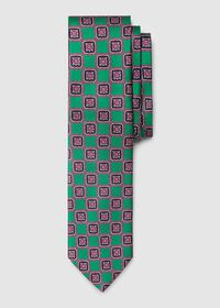 Silk Large Medallion Tie, thumbnail 1