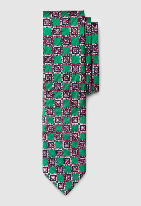 Silk Large Medallion Tie, image 1