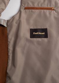 Linen Windowpane Vest with suede trim, thumbnail 3