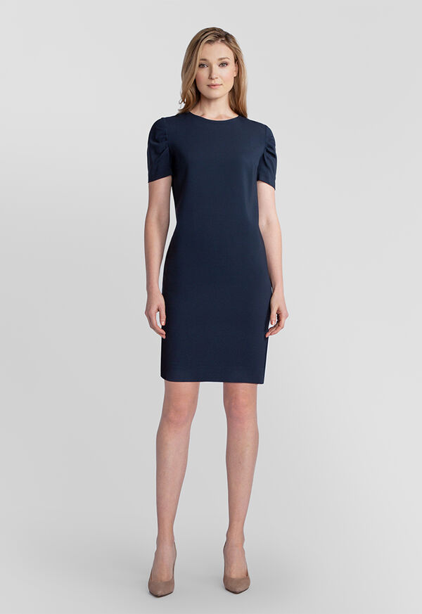 Dress with Ruched Sleeves, image 2