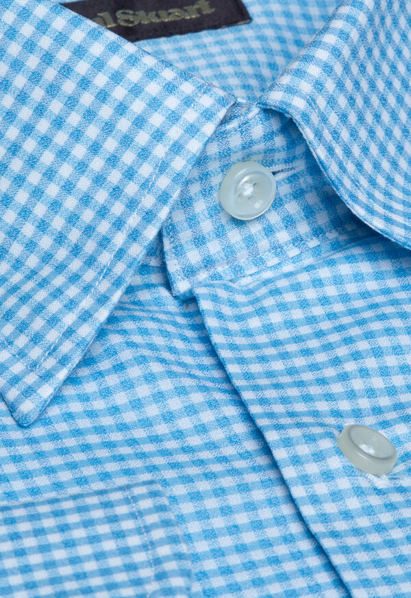 Cotton Gingham Sport Shirt, image 2