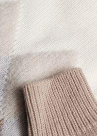 Wool Blend Diamond Pattern Sweater, thumbnail 2