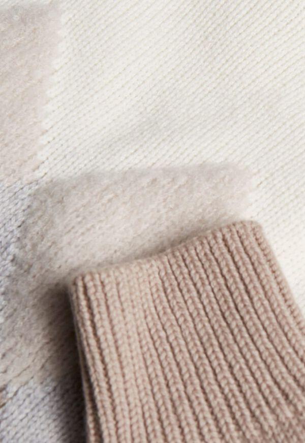 Wool Blend Diamond Pattern Sweater, image 2