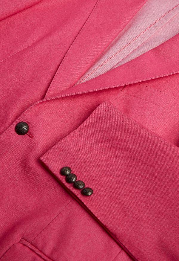 Pink Cotton Blend Denim Jacket, image 4