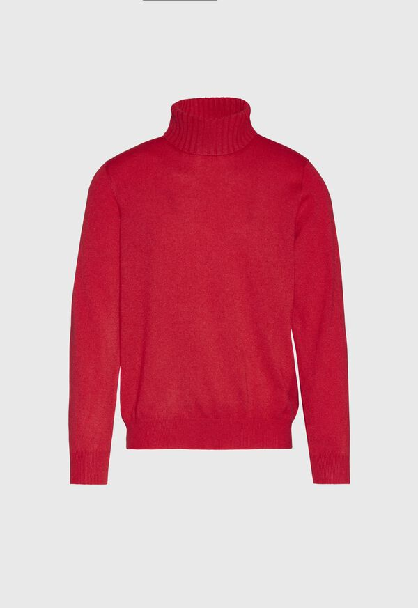 Cashmere Solid Turtleneck, image 1