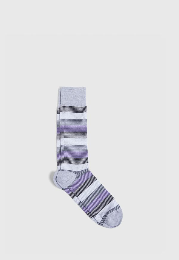 Color Bar Stripe Crew Sock, image 1
