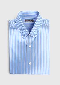 Blue and White Stripe Dress Shirt, thumbnail 1
