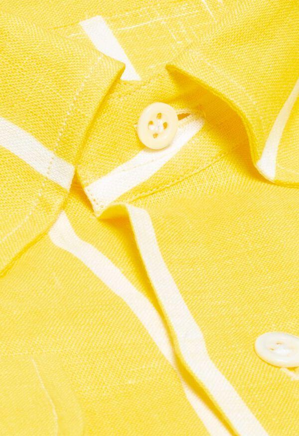 Linen Striped Sport Shirt, image 2