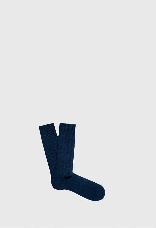 Cashmere Blend Ribbed Sock, image 1
