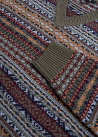 Fair Isle V-neck Sweater, thumbnail 2