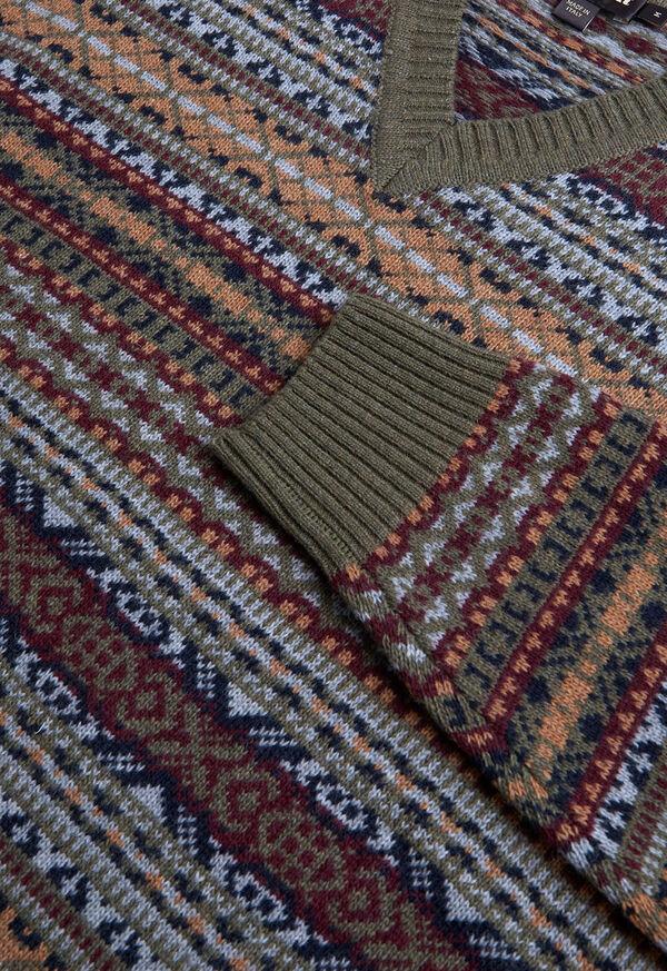 Fair Isle V-neck Sweater, image 2