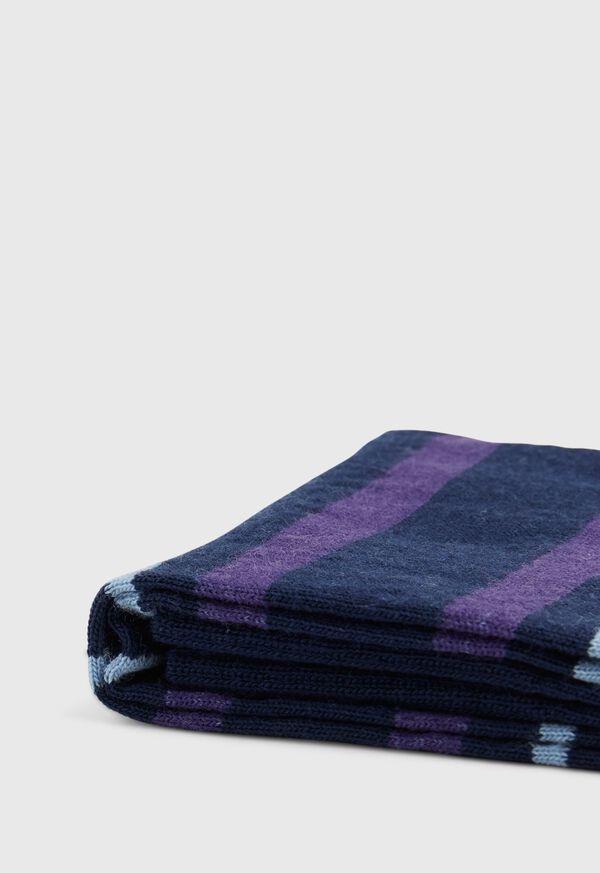 Wool Blend Multi Stripe Sock, image 2