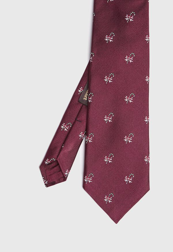 Red Candy Cane Holiday Tie, image 1