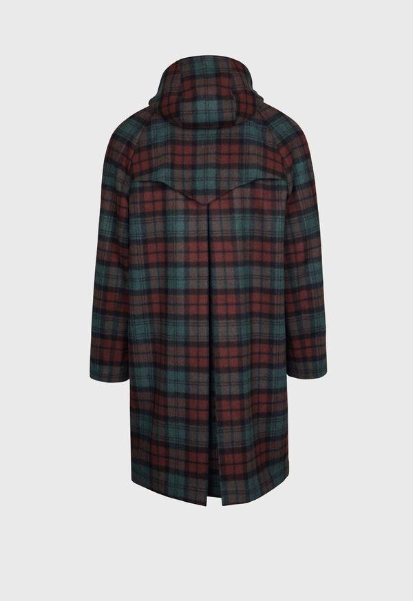 Tartan Plaid Wool Hooded Coat, image 2