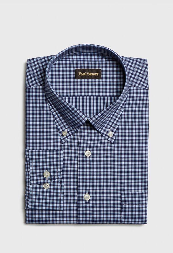 Cotton Check Sport Shirt, image 1