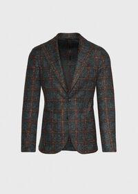 Single Breasted Plaid Soft Jacket, thumbnail 1