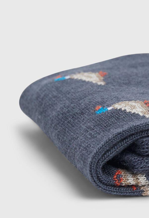 Duck Motif Wool Sock, image 2